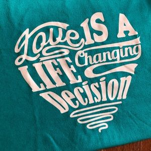 Tops - Turquoise Love Unisex T-shirt short sleeve
